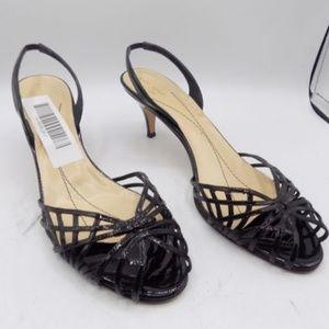 Kate Spade Black Leather Slingback Sandals,Size 11